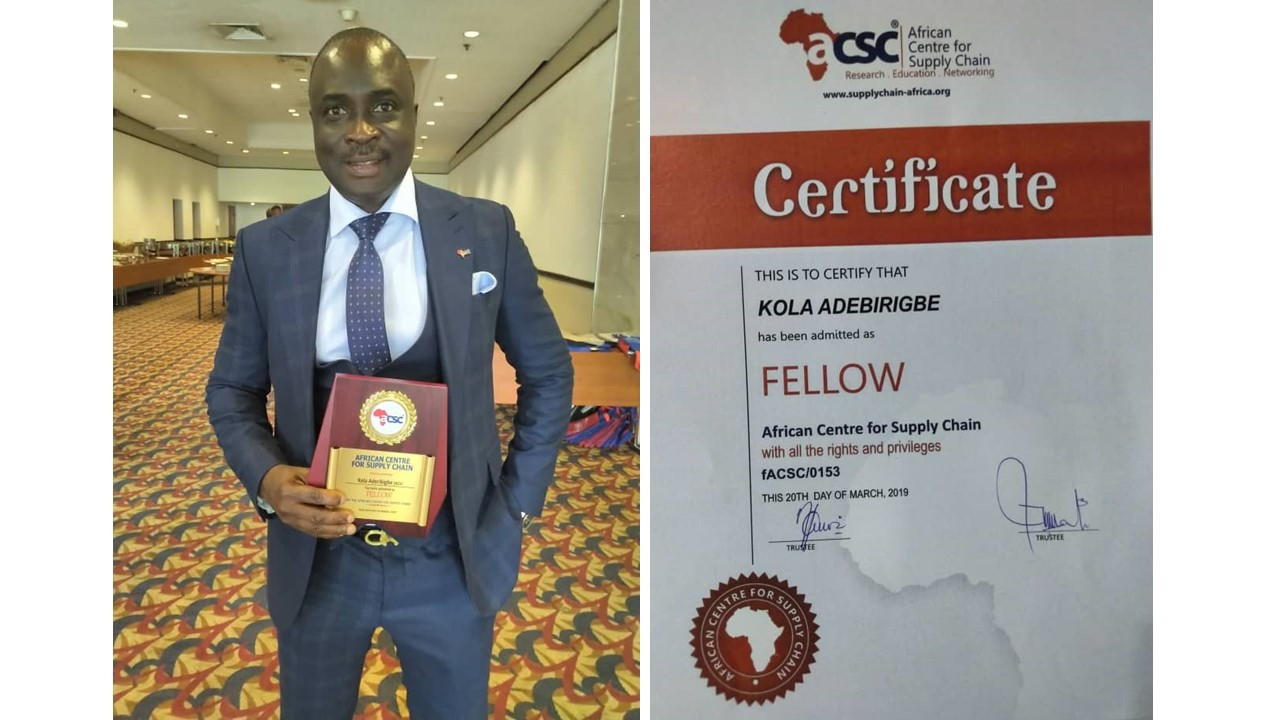 KSP Shipping & Logistics Ltd  awarded fellow of the African